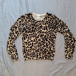 H and m leopard print cardigan